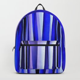 Peace and Harmony Blue Striped Abstract Pattern Backpack