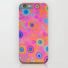 RASPBERRY FIZZ - Sweet Pink Fruity Candy Swirls Abstract Watercolor Painting Bright Feminine Art iPhone 6s Slim Case