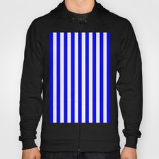 Vertical Stripes (Blue/White) Hoody