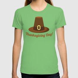 Happy Thanksgiving Day Hat Design T-shirt