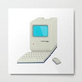 Retro computer Metal Print
