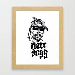 Nate Dogg Art Freehand/Graffiti  Framed Art Print