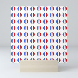Flag of France 15- France, Français,française, French,romantic,love,gastronomy Mini Art Print