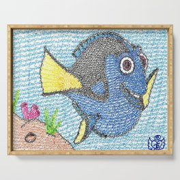 Dory Word Art Serving Tray