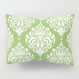Green Damask Pillow Sham
