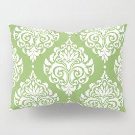 Green Damask Pillow Sham