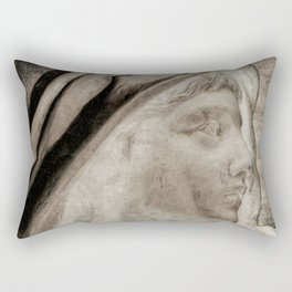 Lady Angel Celestial Woman Spiritual Art A145 Rectangular Pillow