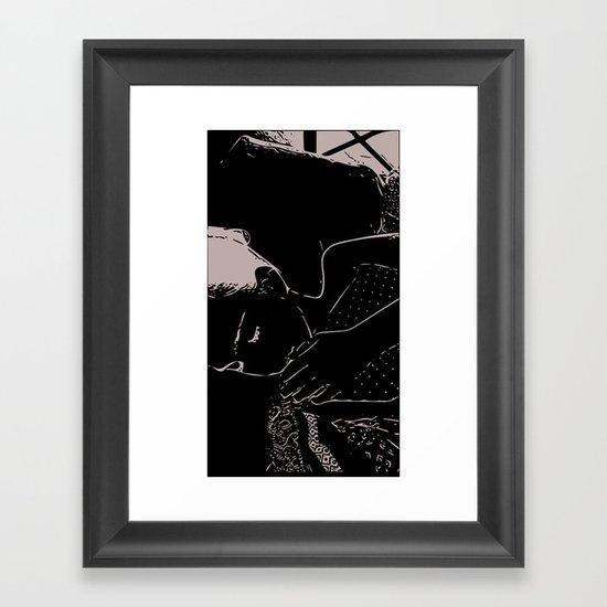 Sleepy Head Framed Art Print