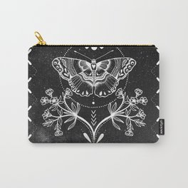 Magical Moth Black Carry-All Pouch