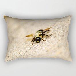 Fuzzy Wood Bee Rectangular Pillow