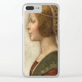 "Leonardo da Vinci ""Bella principessa"" Clear iPhone Case"