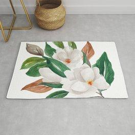 White Magnolia Bouquet I Rug