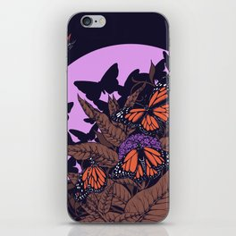 monarchs and milkweed iPhone Skin