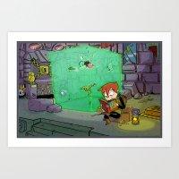 Dungeon Crawling Art Print