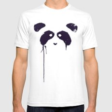 Panda Mens Fitted Tee White LARGE