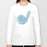 biology Long Sleeve T-shirts featuring AMMONITE COLLECTION by Chicca Besso