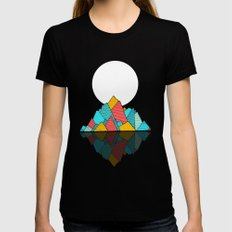 The lost Island Black SMALL Womens Fitted Tee