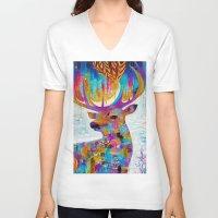 the shining V-neck T-shirts featuring The Shining by Marianna Ochyra