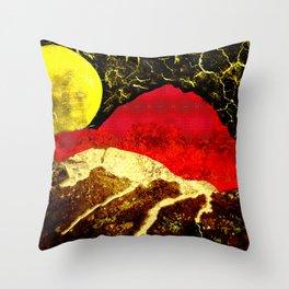 Storm on Red Mountain Throw Pillow