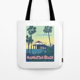 Manhattan Beach Poster -e. e. kono Tote Bag