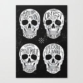 Skulls & Quotes Canvas Print