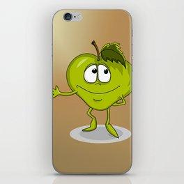 Happy apple iPhone Skin