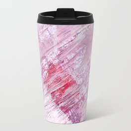 Magnetic [10]: a minimal abstract piece in gold, pink, red, white and purple Travel Mug
