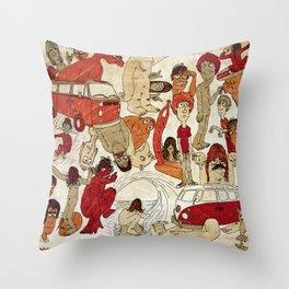 Go Longboard Vintage Throw Pillow