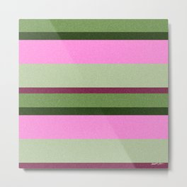 Pink Roses in Anzures 1 Stripes 3H Metal Print