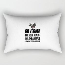 Go vegan! veganism food gift idea Rectangular Pillow