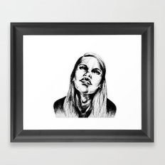 Head Back Framed Art Print