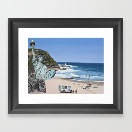It's a Question of Simian Survival Framed Art Print