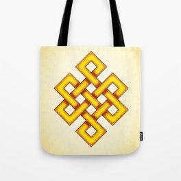 Endless Knot Yellow Tote Bag