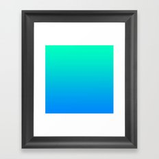 TEAL & BLUE FADE Framed Art Print