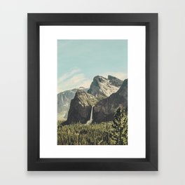Yosemite Valley Waterfall Framed Art Print