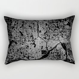 minneapolis map Rectangular Pillow