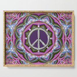Happy Hippy Psychedelic Sparkle Serving Tray
