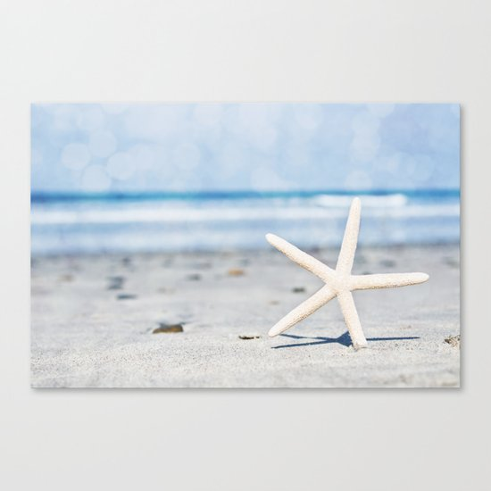 Starfish By The Seashore  Canvas Print