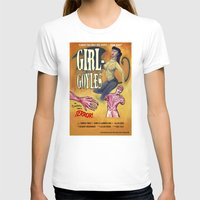 "movie posters T-shirts featuring ""Girl-Goyles"" Movie Poster by 7 Hells: Retro Horror art of Bill Rude"