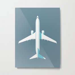 737 Passenger Jet Airliner Aircraft - Slate Metal Print