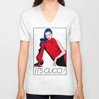 gucci V-neck T-shirts featuring Gucci! by Alli Vanes