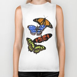 A butterfly collection Biker Tank