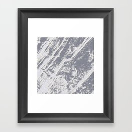 shades of gray marble effect Framed Art Print