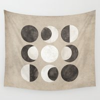 moon phases Wall Tapestries featuring Moon Phases by cegphotographics