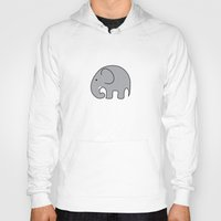 baby elephant Hoodies featuring BABY ELEPHANT  by EYE ECHO