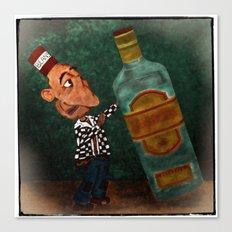 A Vocational Hazard for a Career Drunk Canvas Print