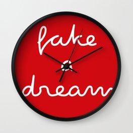 fake a dream Wall Clock