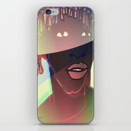 Ebony Coral Headdress Colors iPhone Skin