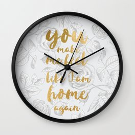 LIVELONG WHITE & GOLD Wall Clock
