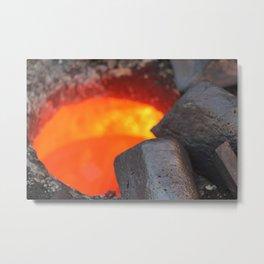Hot Copper Metal Print